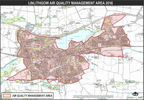 Air Quality Map - Linlithgow Displays a larger version of this image in a new browser window